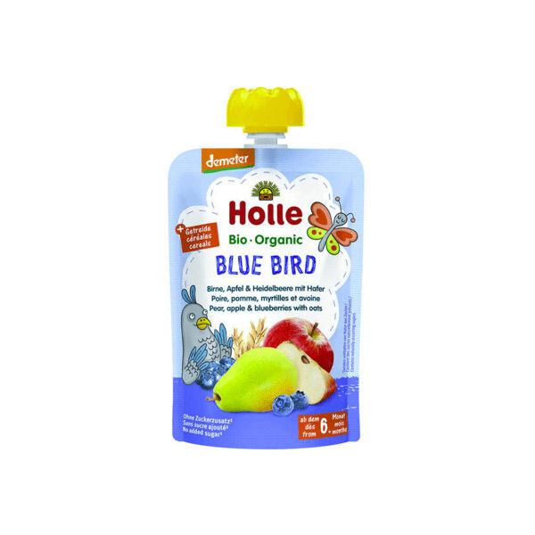 Holle Gourde Pouchy Poire Pomme Myrtille Avoine Bio +6m 100g