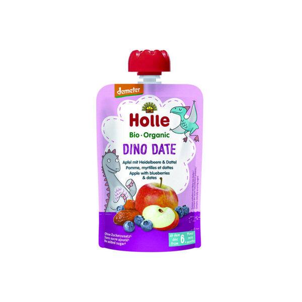 Holle Gourde Pouchy Pomme Myrtilles Dattes Bio +6m 100g