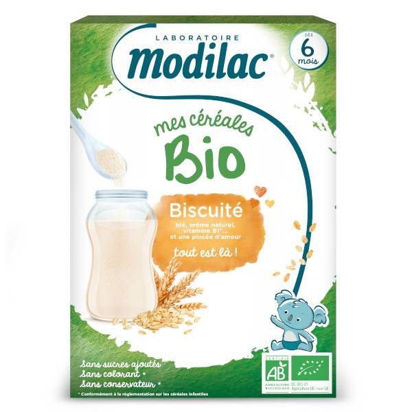 Modilac Mes Céréales Bio Biscuité Dès 6 mois 250g