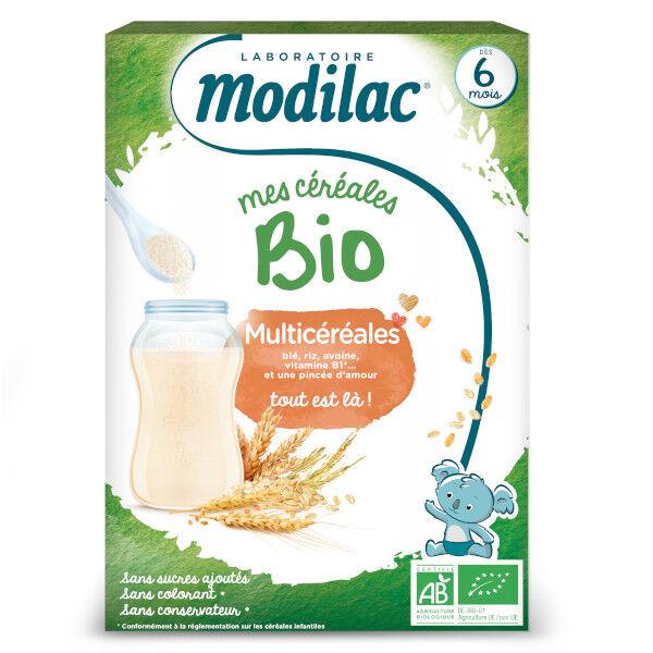 Modilac Mes Céréales Bio Multicéréales Dès 6 mois 250g