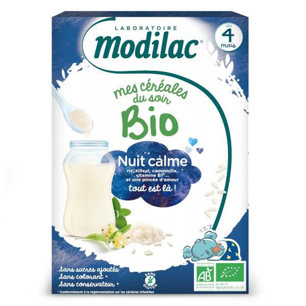 Modilac Mes Céréales du Soir Bio Nuit Calme Dès 4 mois 250g