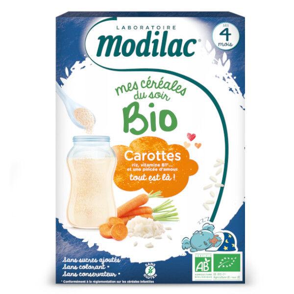 Modilac Mes Céréales du Soir Bio Riz Carotte Dès 4 mois 250g