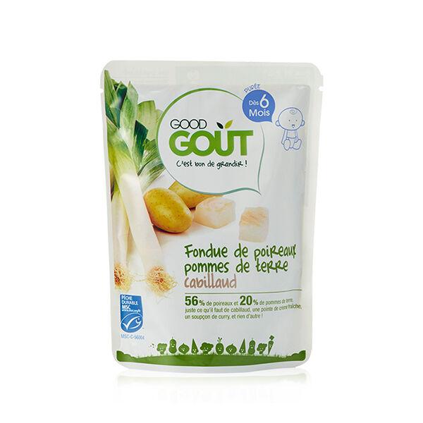 Good Goût Plat Fondue de Poireaux Pommes de Terre Cabillaud +6m Bio 190g