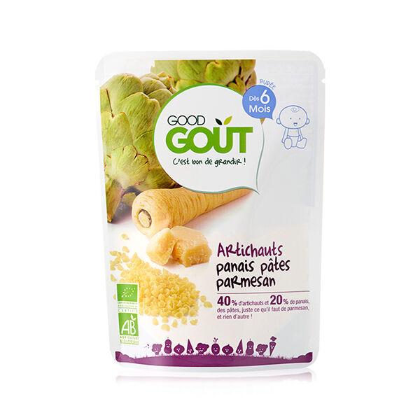 Good Goût Plat Artichauts Panais Pâtes Parmesan +6m Bio 190g