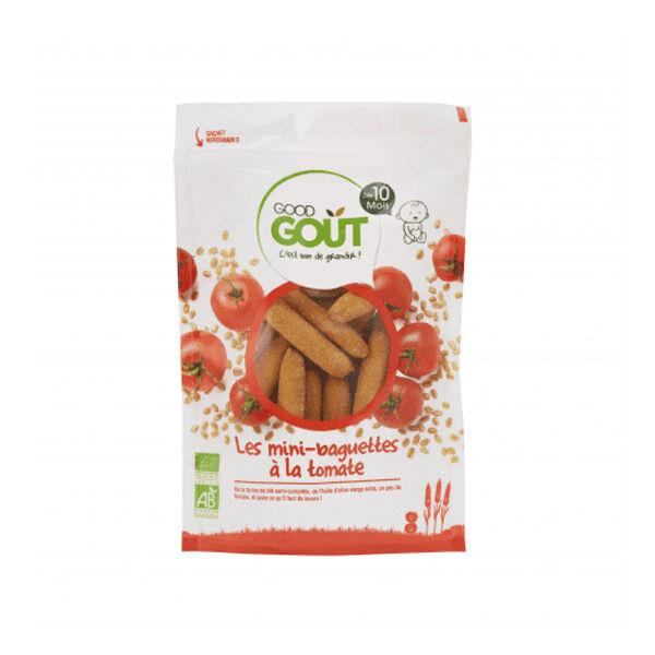 Good Goût Biscuits Mini-Baguettes à la Tomate +10m Bio 70g