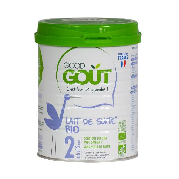 Good Goût Lait de Suite Bio 2e âge 800g