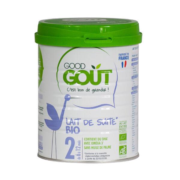 Good Goût Lait de Suite 2ème Âge Bio 800g