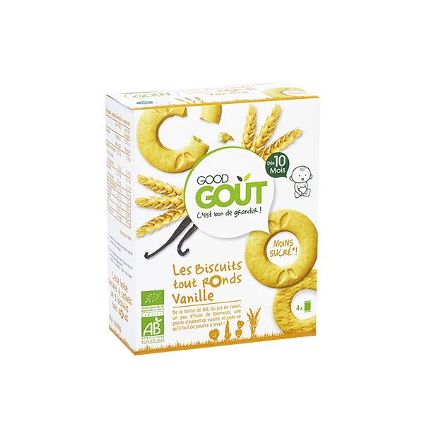 Good Goût Biscuits Tout Ronds Vanille +10m Bio 80g