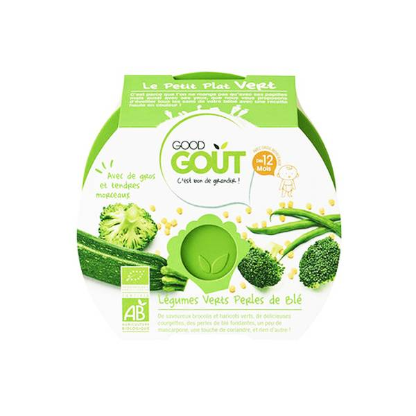 Good Gout Good Goût Assiette Légumes Verts Perles de Blé dès 12m 220g