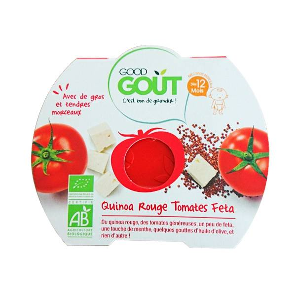 Good Goût Assiette Quinoa Rouge Tomates Feta dès 12m 220g