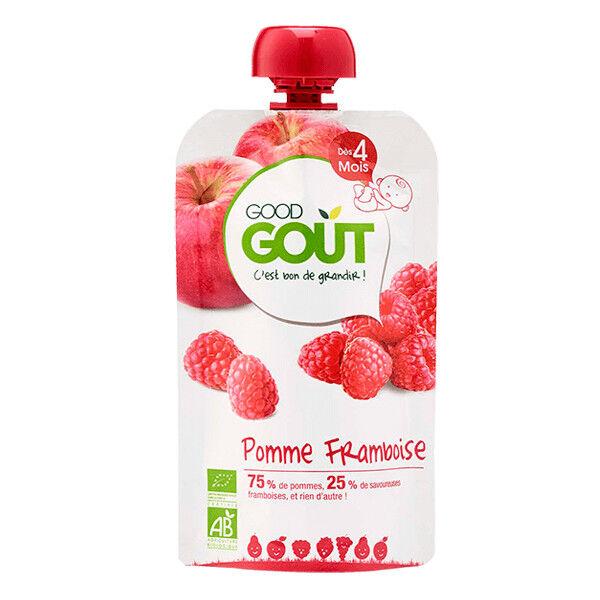 Good Goût Gourde Compote de Fruits Pomme Framboise +4m Bio 120g