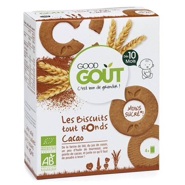 Good Goût Biscuits Tout Ronds au Cacao +10m Bio 80g