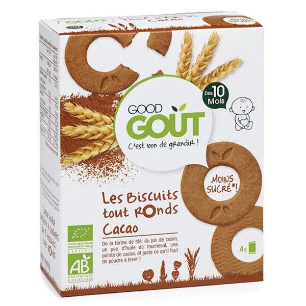 Good Gout Good Goût Biscuits Tout Ronds au Cacao Bio +10m 80g