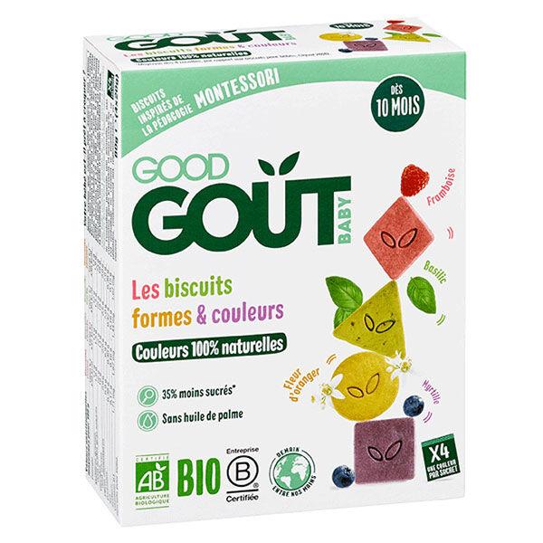 Good Goût Biscuits Formes et Couleurs +10m Bio 80g