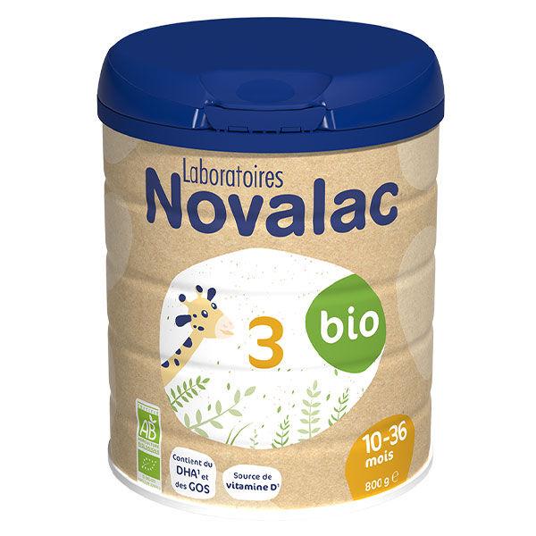 Novalac Lait de Croissance 3ème Âge Bio 800g