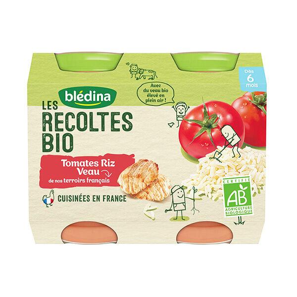 Blédina Récoltes Bio Tomates Riz Veau 2 x 200g