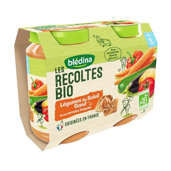 Blédina Récoltes Bio Légumes du Soleil Boeuf 2 x 200g