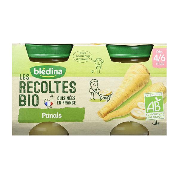 Blédina Les Récoltes Bio Pot Panais +4m 2 x 130g