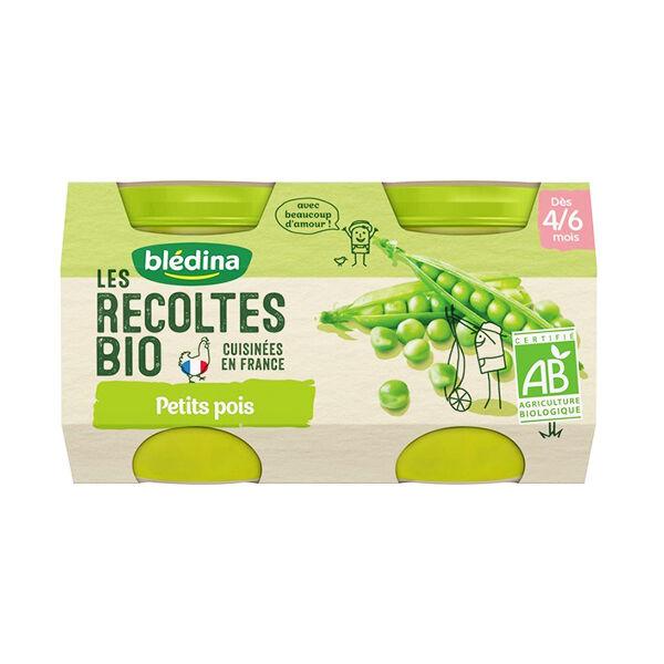Blédina Les Récoltes Bio Pot Petits Pois +4m 2 x 130g