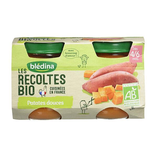 Blédina Les Récoltes Bio Pot Patates Douces +4m 2 x 130g