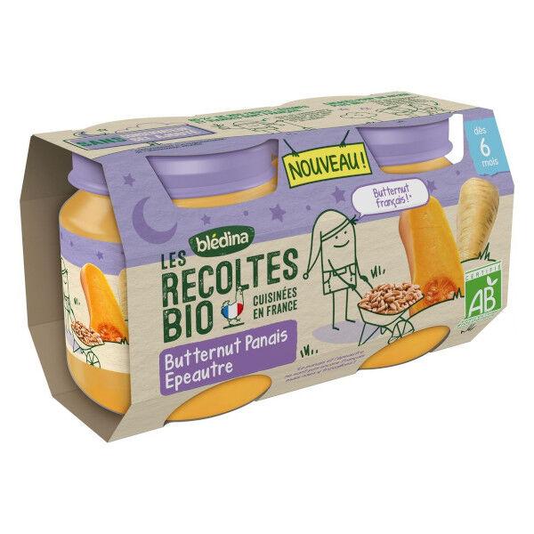 Blédina Les Récoltes Bio Pot Butternut Panais Epeautre +6m 2 x 130g