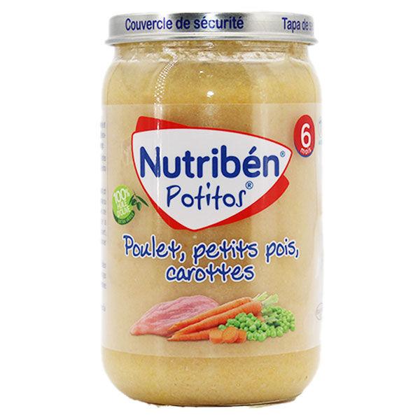 Nutriben Potitos Poulet Petits Pois Carottes +6m 235g