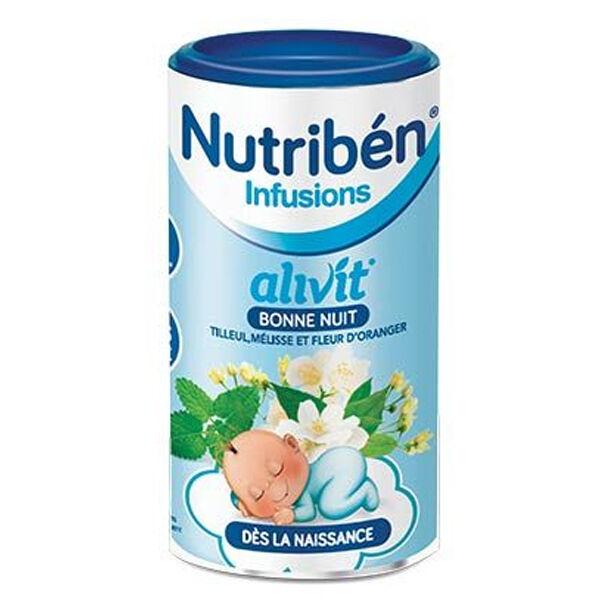 Nutriben Nutribén Infusions Alivit Bonne Nuit Tilleul Mélisse Fleur d'Oranger 150g