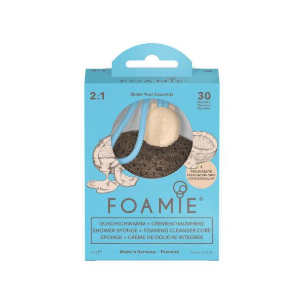 Astrodif Foamie Eponge Naturelle + Crème de Douche Intégrée Noix de Coco 72g