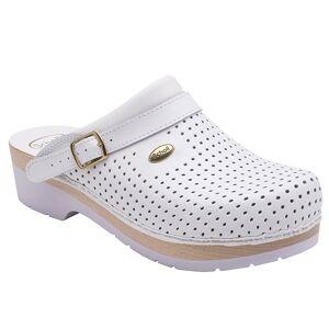 Scholl Chaussures Professionnelles Sabot Perforé Comfort B/S Blanc Taille 40 - Publicité
