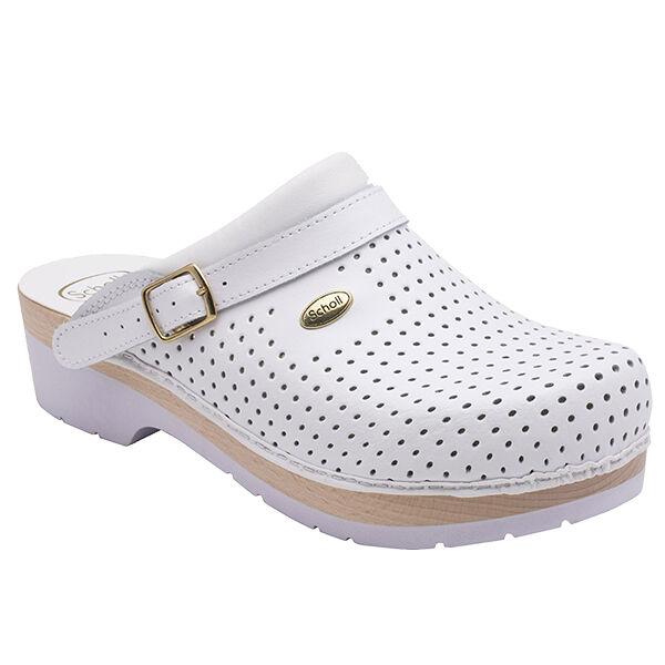Scholl Chaussures Professionnelles Sabot Perforé Comfort B/S Blanc Taille 40
