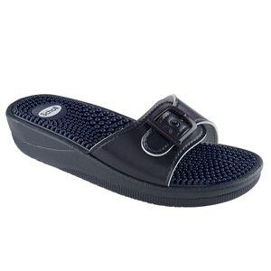 Scholl Chaussures de Confort Mules New Massage Bleu Marine Taille 35 - Publicité