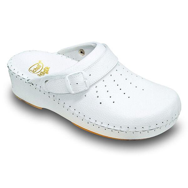 Scholl Chaussures Professionnelles Sabot Perforé Clog B/S Adapta Blanc Taille 40