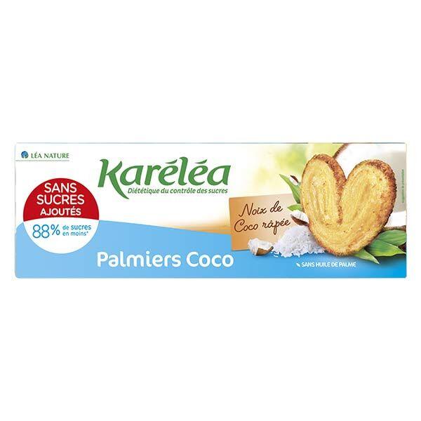 Karéléa Biscuits Sans Sucres Ajoutés Palmiers Coco 100g