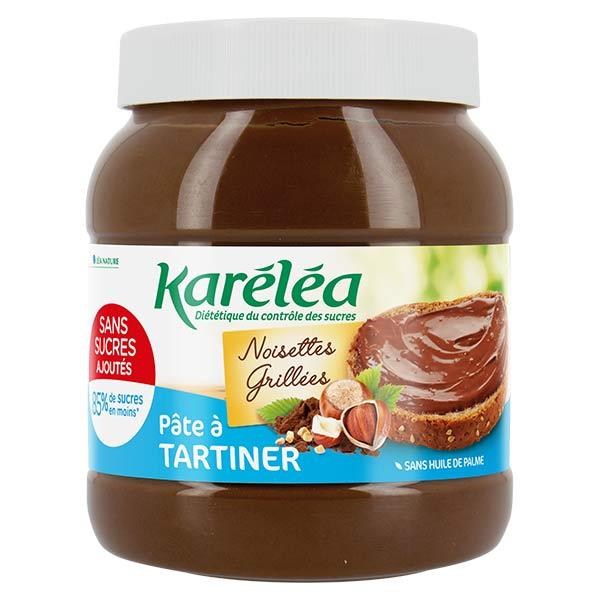 Karéléa Chocolat Sans Sucres Ajoutés Pâte à Tartiner Noisettes Cacao 750g