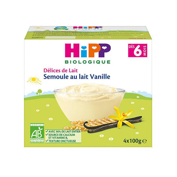 Hipp Bio Semoule au Lait Vanille +6m 4 x 100g