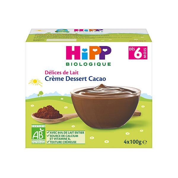 Hipp Bio Crème Dessert Cacao +6m 4 x 100g