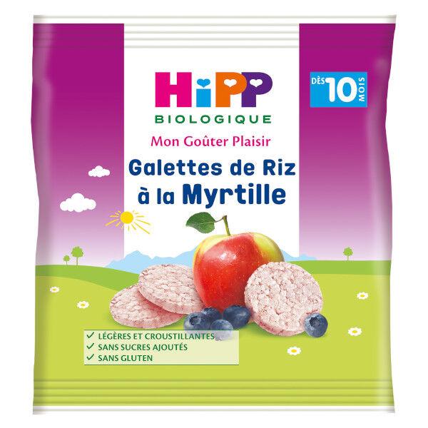 Hipp Bio Mon Goûter Plaisir Galettes de Riz à la Myrtille +10m 30g