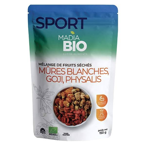 Madia Bio Super Aliments Mûres Blanches Goji Physalis Mix 150g