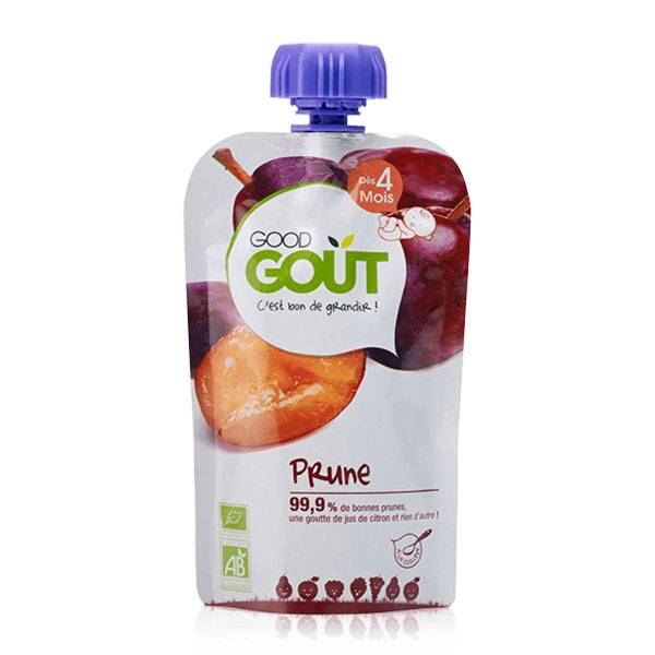 Good Goût Gourde Compote de Fruits Prune +4m Bio 120g
