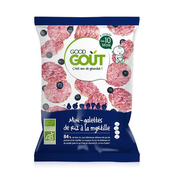 Good Goût Biscuits Mini-Galette de Riz à la Myrtille +10m Bio 40g