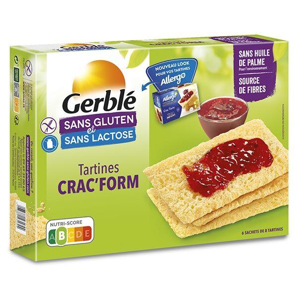 Gerblé Sans Gluten & Sans Lactose Tartines Crac' Form 250g