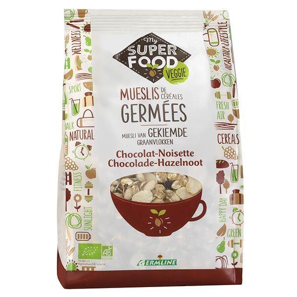 Germ'Line Germline Muesli de Céréales Germées Chocolat Noisette Bio 350g