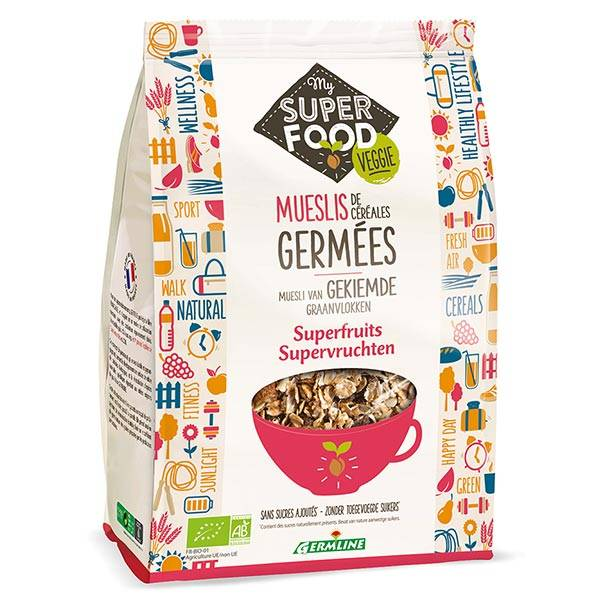 Germ'Line Germline Muesli de Céréales Germées Superfruits Bio 350g