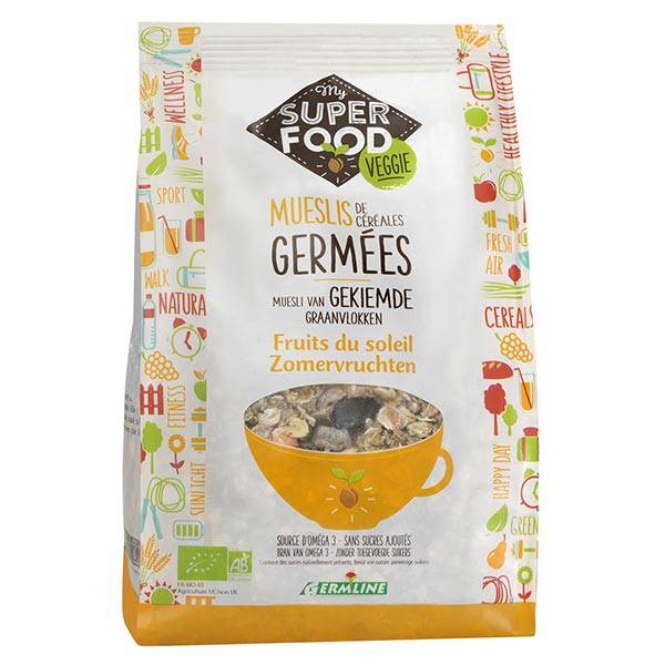 Germ'Line Germline Muesli de Céréales Germées Fruits du Soleil Bio 350g
