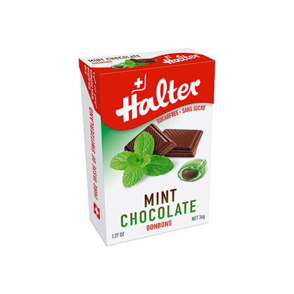 Halter Bonbon Suisse sans Sucre Menthe Chocolat 36g