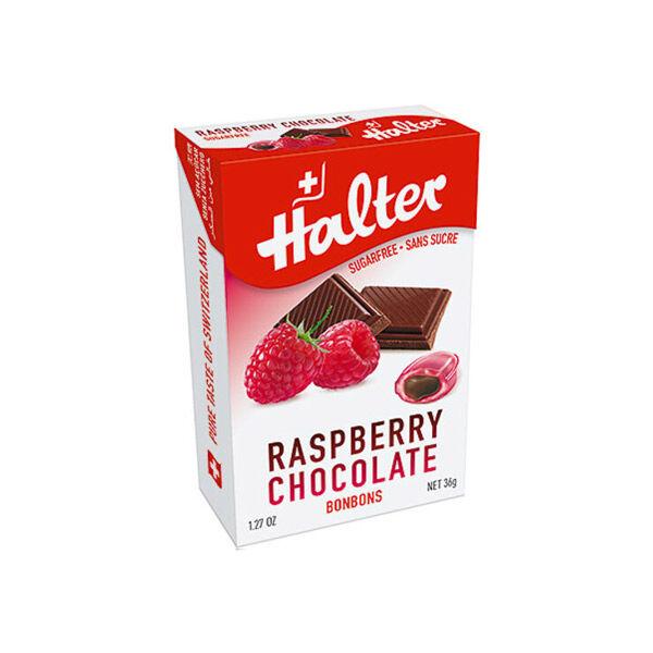 Halter Bonbon Suisse sans Sucre Framboise Chocolat 36g