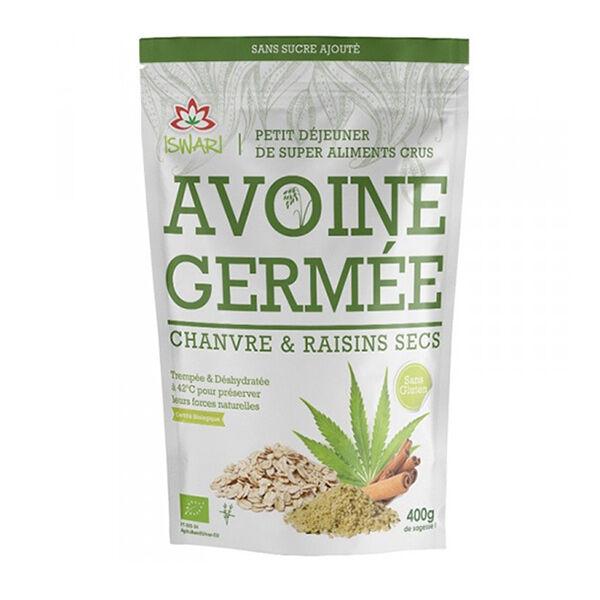 Iswari Avoine Germée Chanvre & Raisins Secs Bio 400g