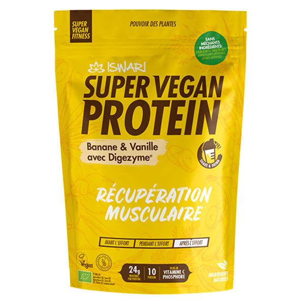 Iswari Super Vegan Protein Banane et Vanille Bio 350g
