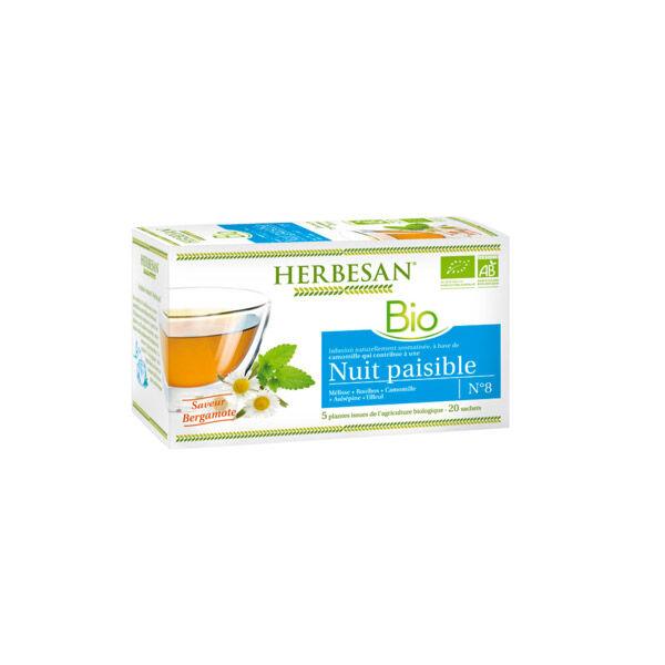 Herbesan Bio Infusion Relaxation Saveur bergamote n°8 - 20 sachets