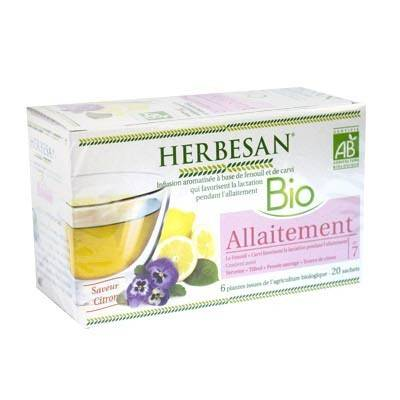 Herbesan Bio Infusion Allaitement Saveur Citron n°7 - 20 sachets